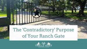 magazine article, ironic, gate purpose, trails west