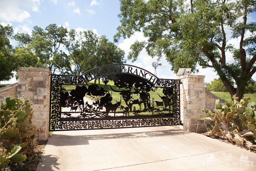 Luxury Custom Gate - Ranch Entrance Gate