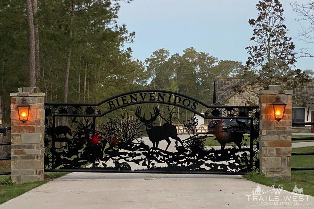 Deer Art, Gate, Custom, Entry, Driveway, Fence, Trails West Gate Company
