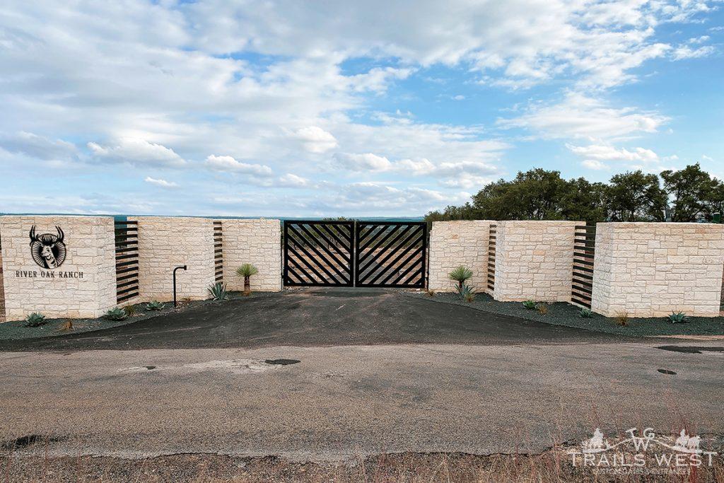 Modern Driveway Gate - Custom Design