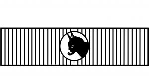 simple gate artwork with donkey head