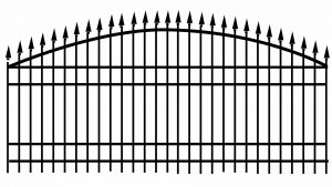 classic pointed iron gate design