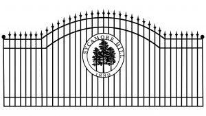 metal decorative iron gate company - trails west gates