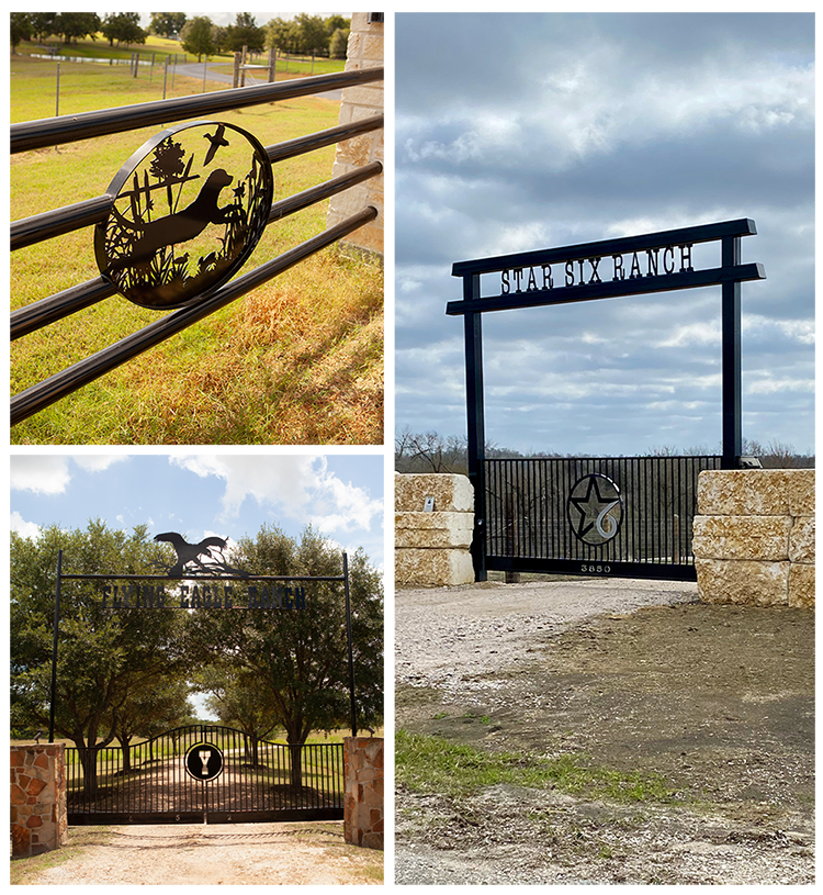 custom ranch gates, gate options, process