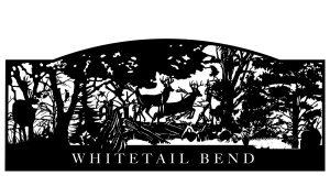 whitetail deer artwork gate