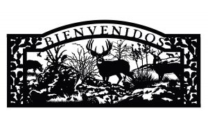 bienvenidos gate, deer, hill country