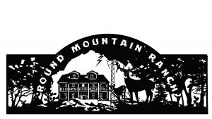 mountain ranch - gate with house artwork