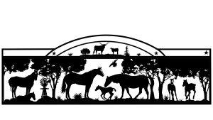 horse ranch gate artwork idea