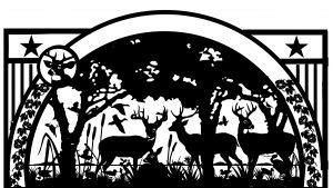 half circle design for custom gate artwork