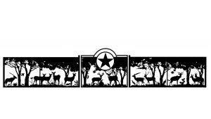 deer and texas star gate - custom gate designer near me
