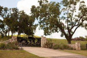 artwork gate for ranch entrance