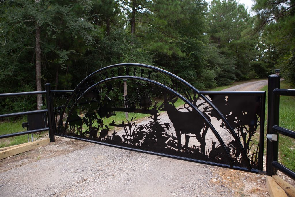 beautiful gate design - arch - ironworks