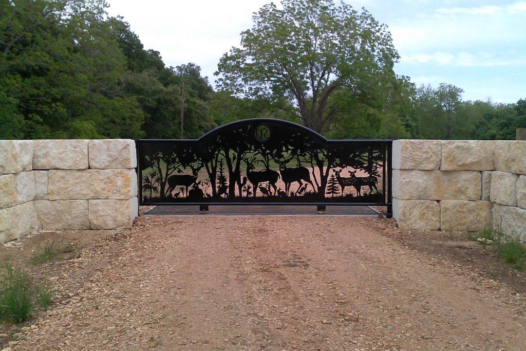 deer metal artwork gate design