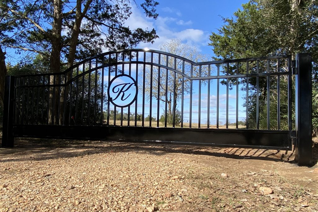 iron gate company - custom letter artwork in middle