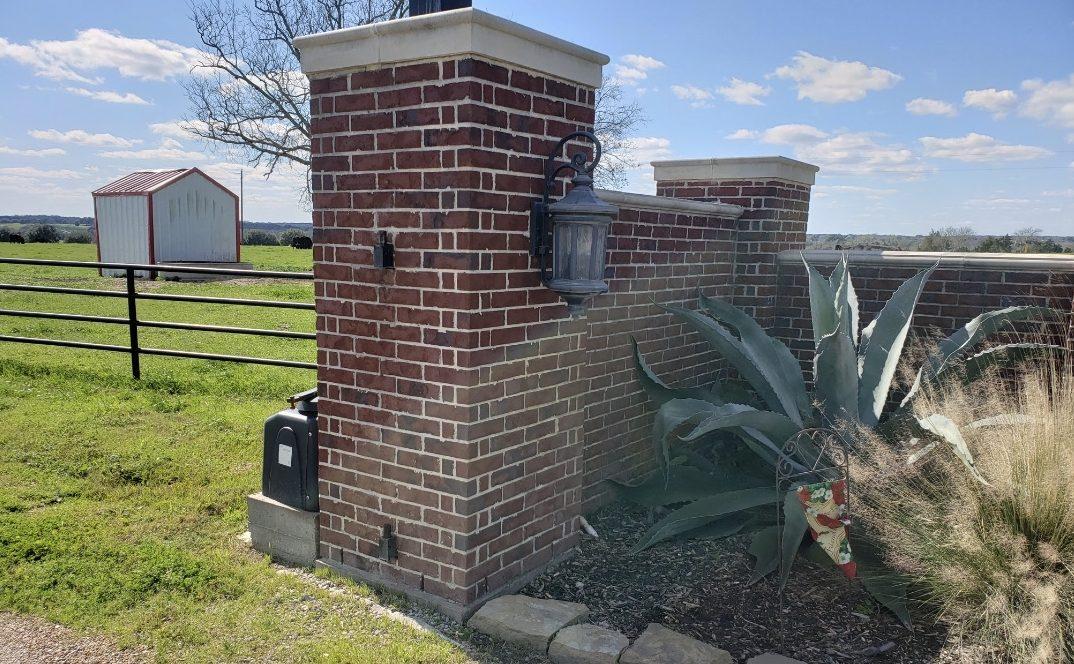 brick columns for residential entrance design