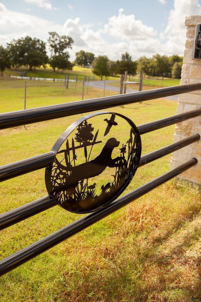 pipe fencing - entrance design